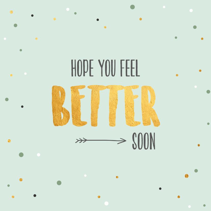 Beterschapskaarten - Hope you feel better soon-beterschapskaart