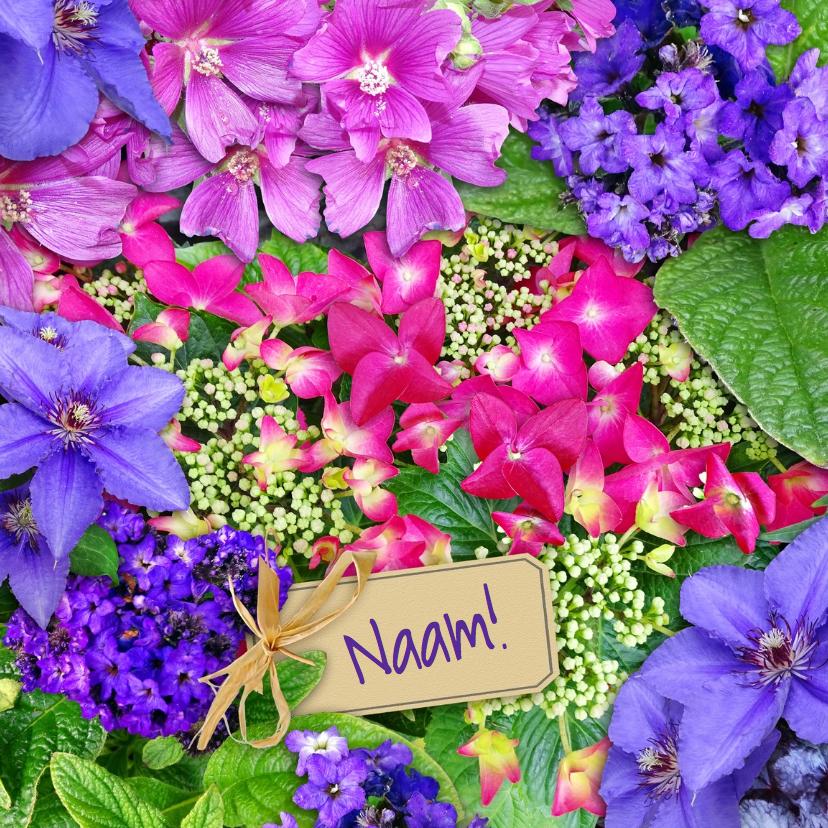 Beterschapskaarten - Leuke beterschapskaart bloemen met Hortensia's