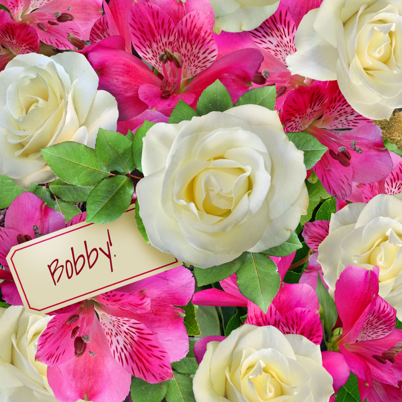 Beterschapskaarten - Leuke beterschapskaart met bos mooie bloemen