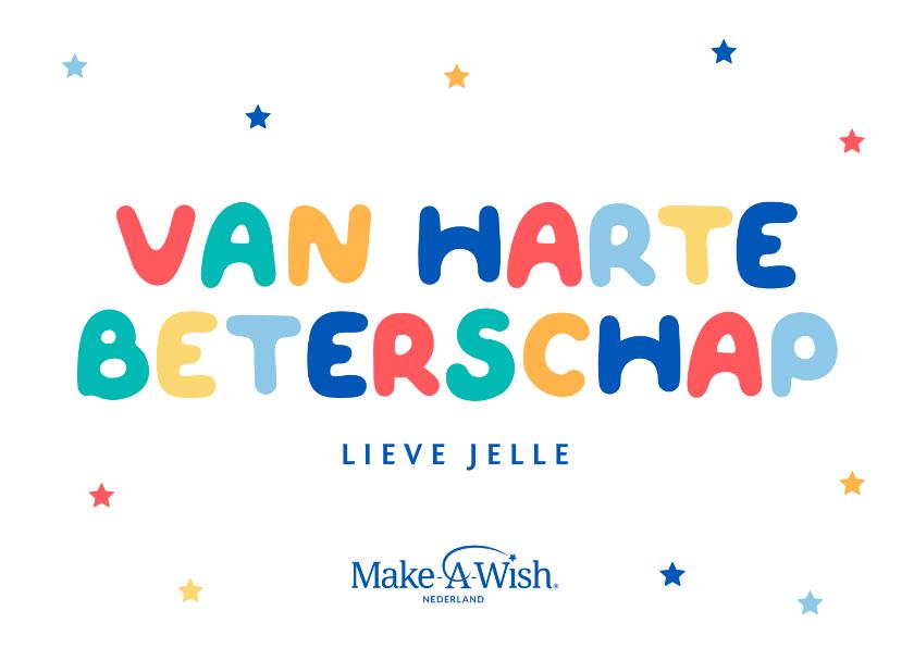 Beterschapskaarten - Make-A-Wish van harte beterschapskaart