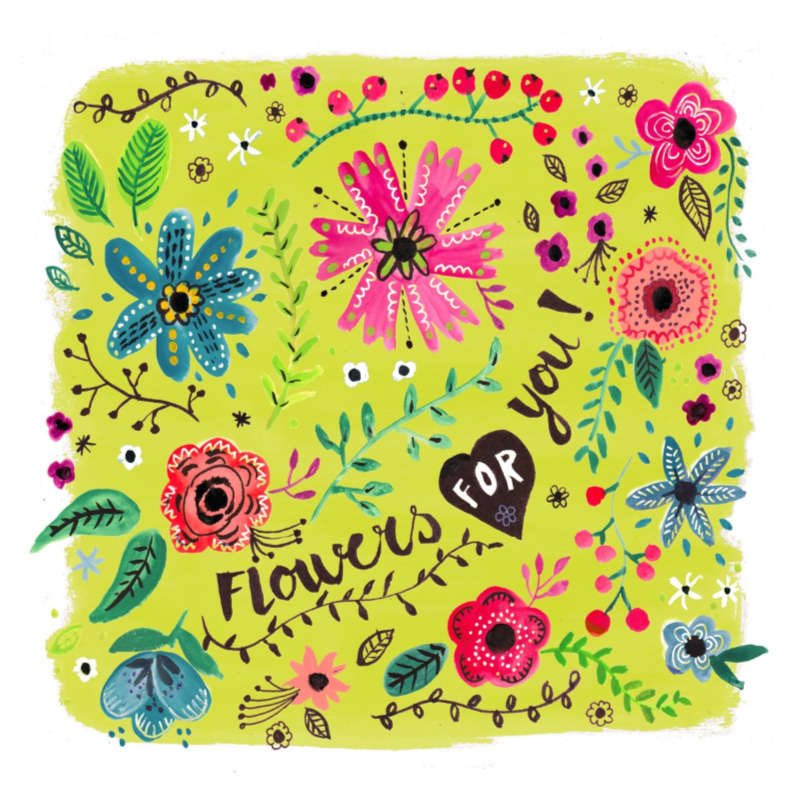 Beterschapskaarten - Vrolijke bloemen voor jou