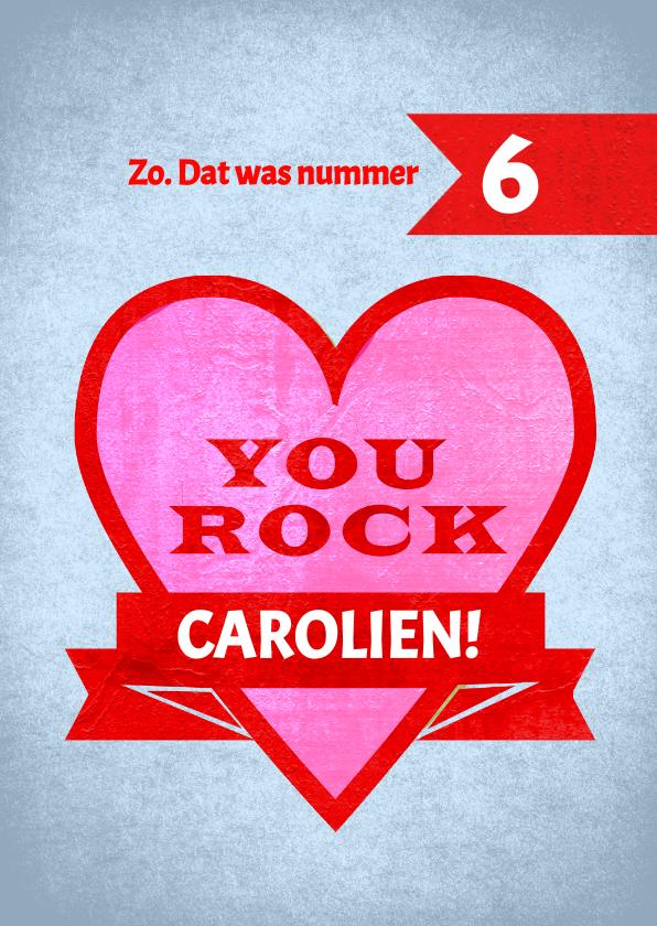 Beterschapskaarten - You Rock - stoere kaart voor iemand met kanker