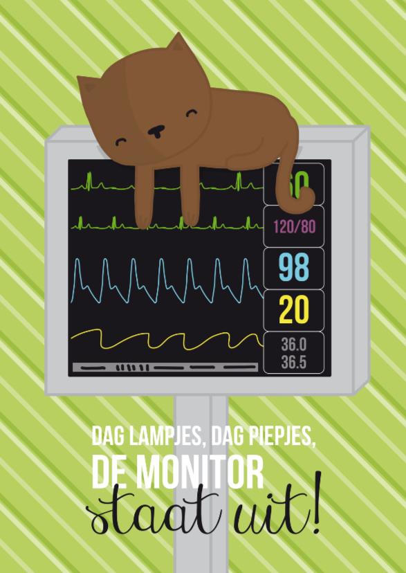 Beterschapskaarten - Ziekenhuis - Poes Monitor