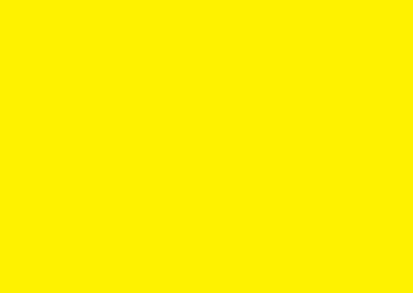 Blanco kaarten - Liggend geel dubbel