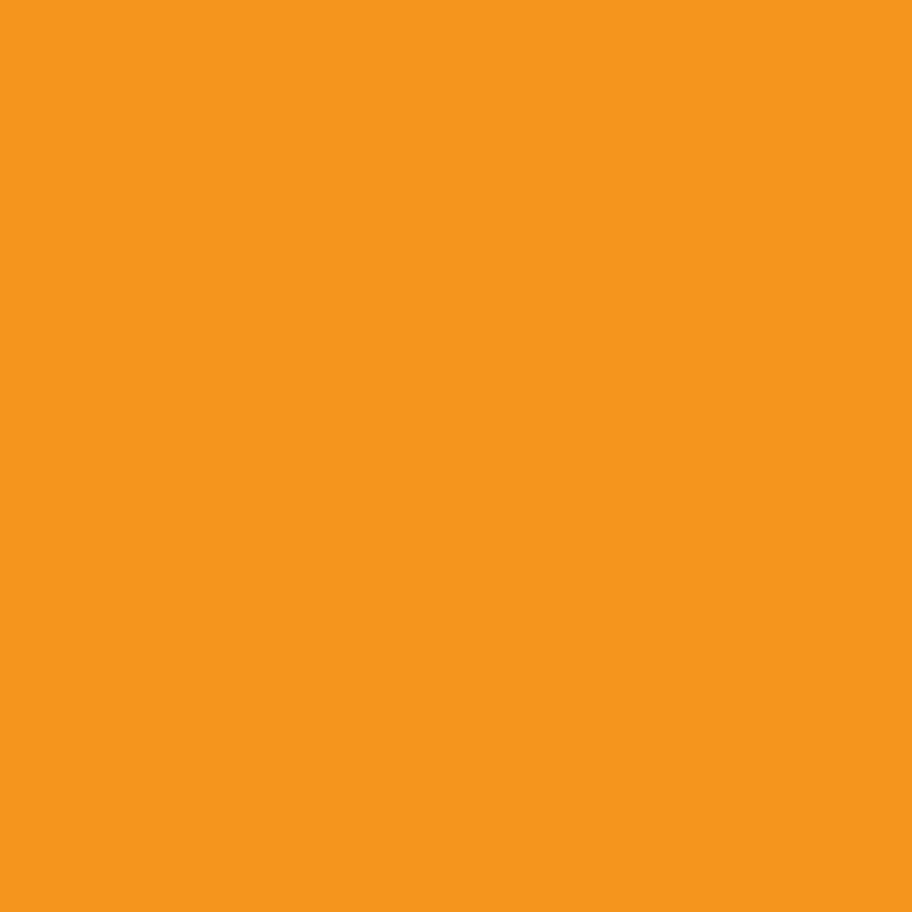 Blanco kaarten - Oranje enkel vierkant