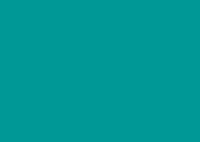 Blanco kaarten - Turquoise dubbel liggend