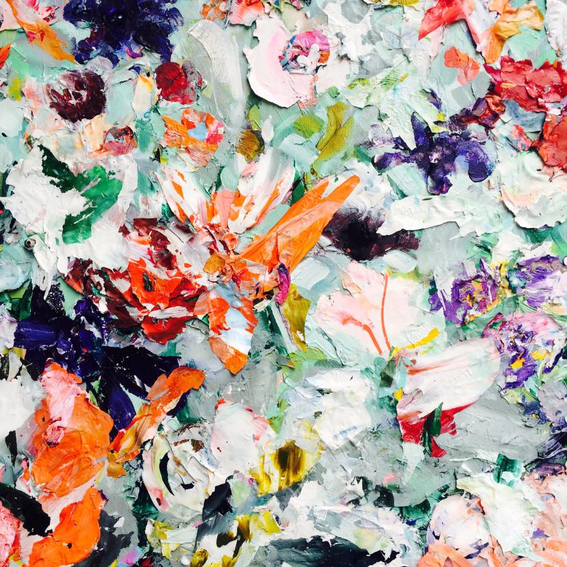 Bloemenkaarten - Bloemen geschilderd zomers -vk