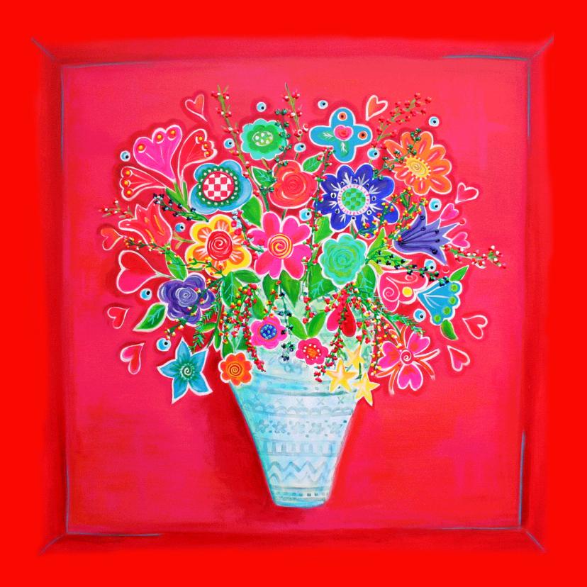Bloemenkaarten - Bloemenkaart Flowerpower PA