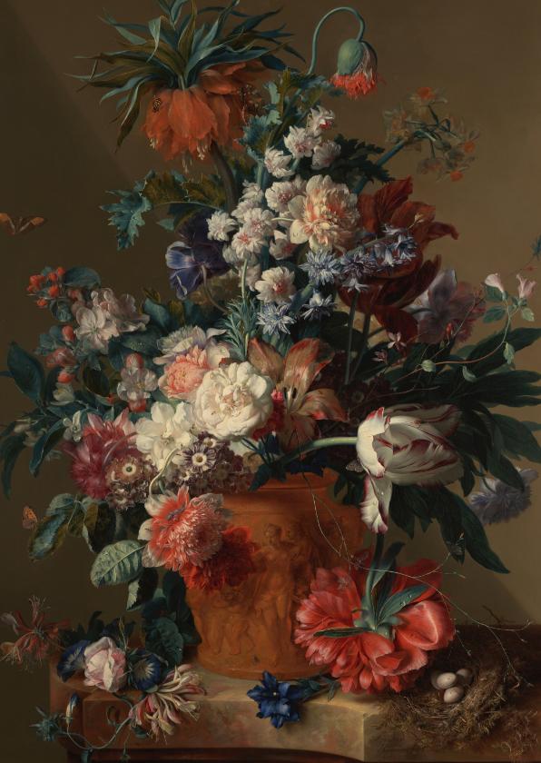 Bloemenkaarten - Jan van Huysum. Bloemstuk