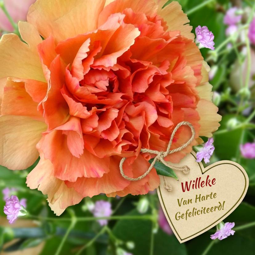 Bloemenkaarten - Mooie bloemenkaart met roos voor diverse gelegenheden