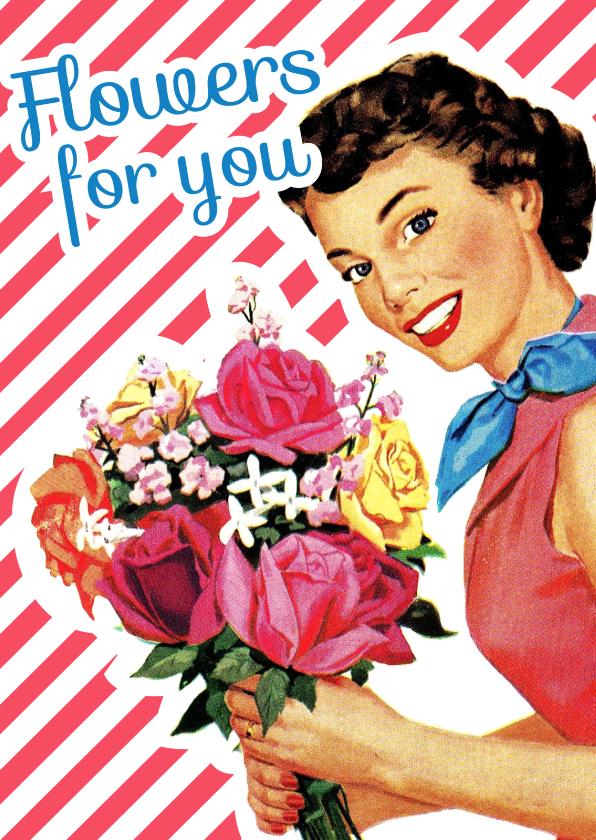 Bloemenkaarten - Vintage Flowers for you