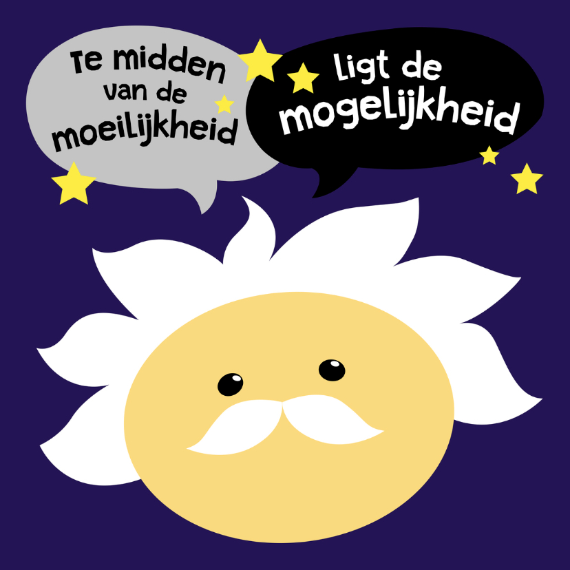 Coachingskaarten - Coachingskaart Einstein smiley