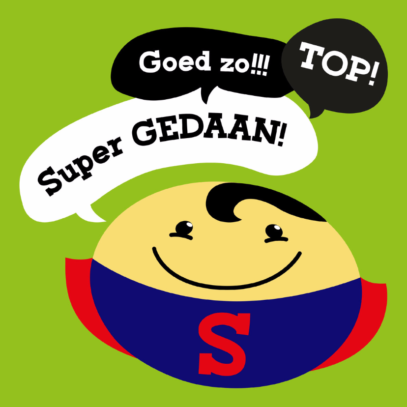 Coachingskaarten - Coachingskaart smiley superman