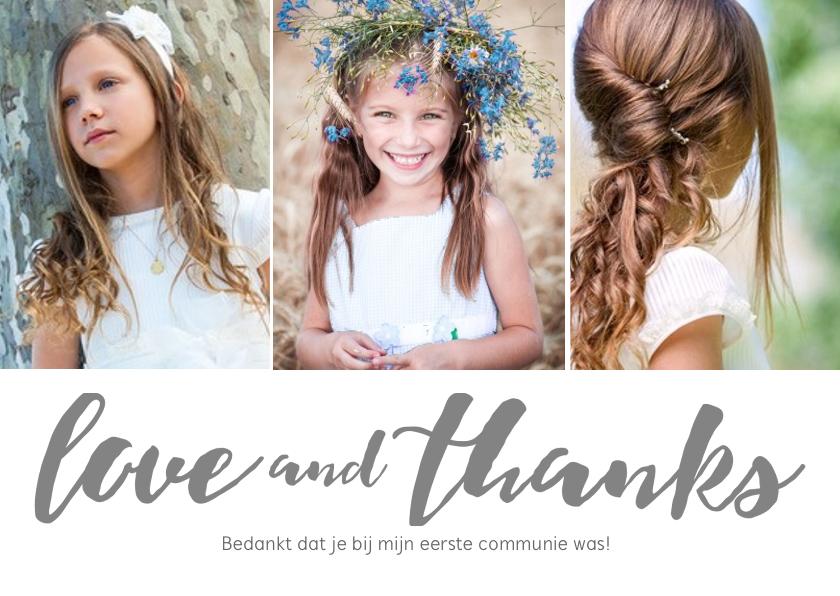 Communiekaarten - Bedankkaartje voor de eerste communie van je dochter