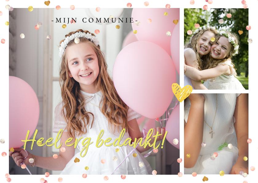 Communiekaarten - Communie bedankkaart foto's