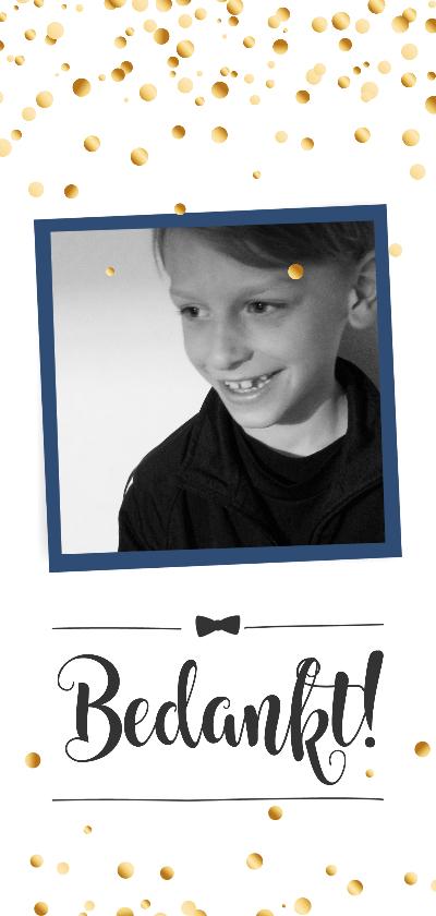 Communiekaarten - Communie confetti boy bedankt