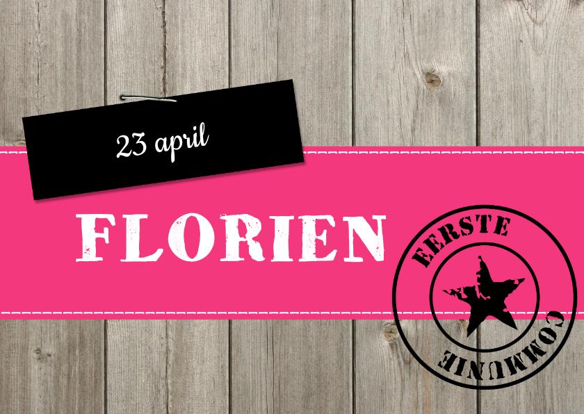 Communiekaarten - Communie Florien LS