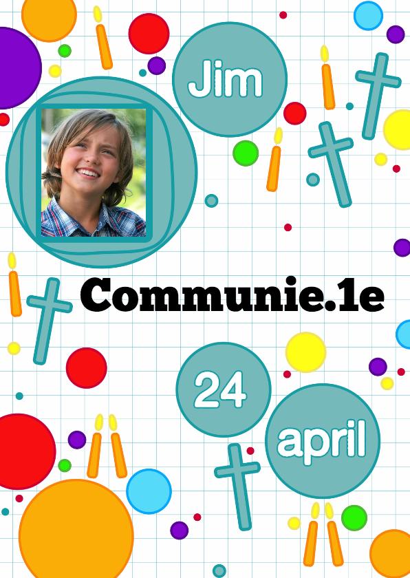 Communiekaarten - communie game stippen en kaarsen
