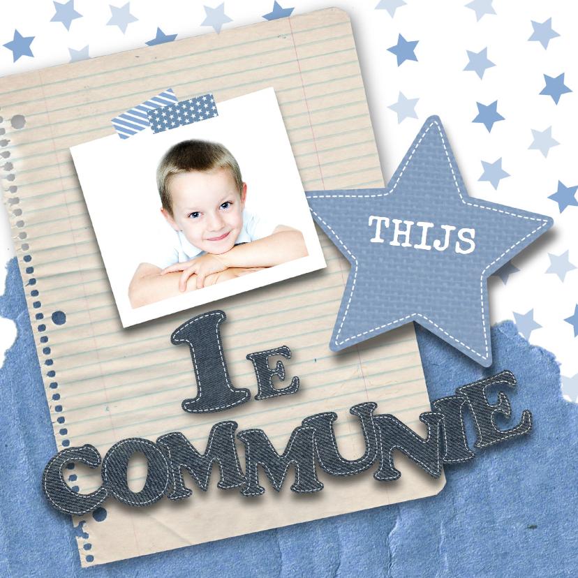 Communiekaarten - Communie stoer sterren foto