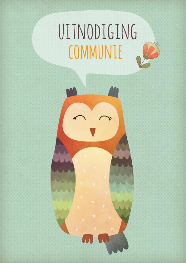 Communiekaarten - Communie uil - BK