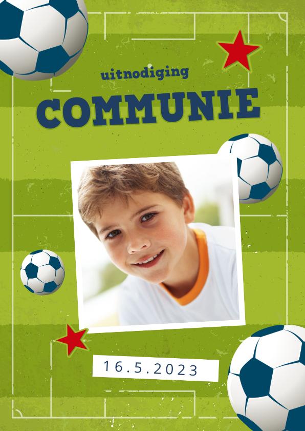 Communiekaarten - Communie uitnodiging voetbal