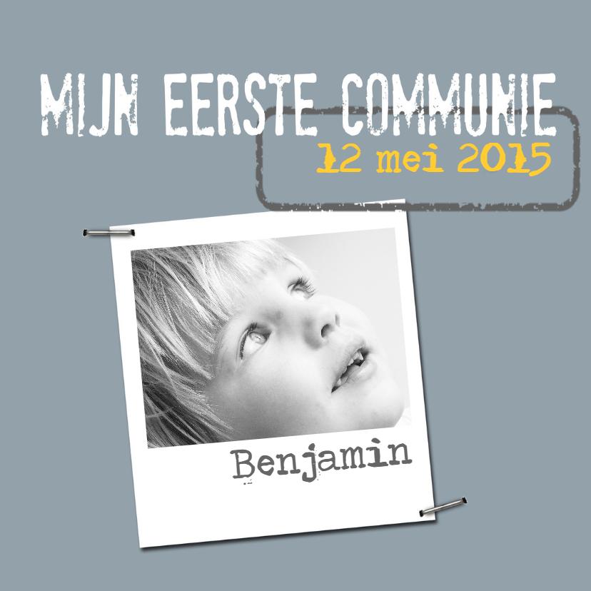 Communiekaarten - Communiekaart Benjamin