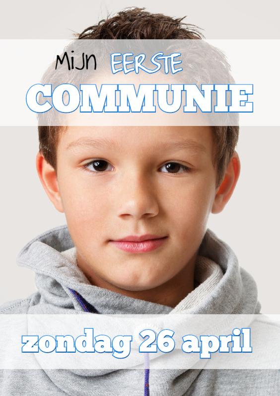 Communiekaarten - Communiekaart Cover Magazine  1