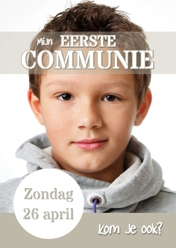 Communiekaarten - Communiekaart Cover Magazine 4