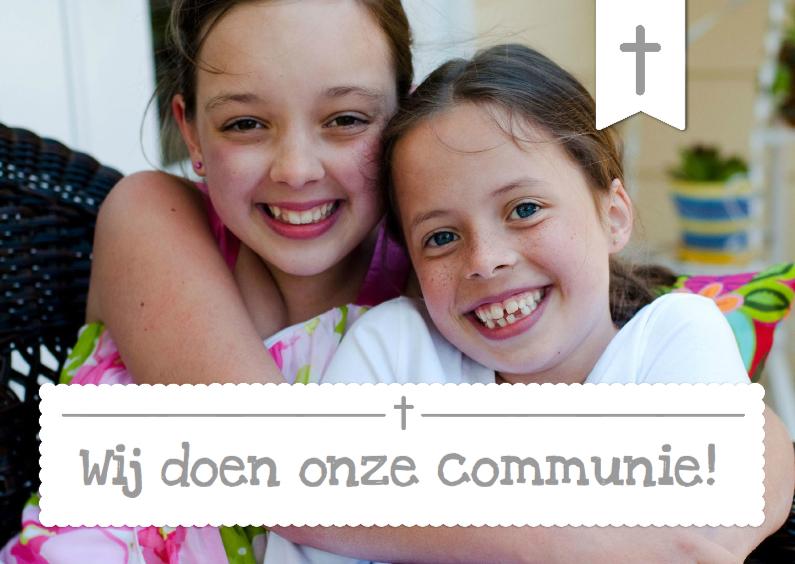Communiekaarten - Communiekaart Foto 2 personen