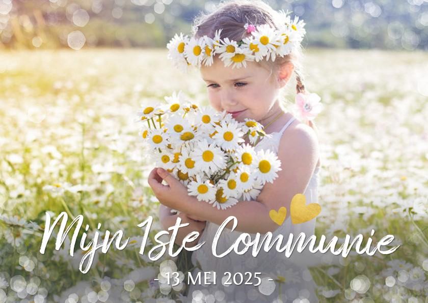 Communiekaarten - Fotokaart communie - uitnodiging communiefeest meisje