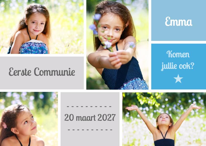 Communiekaarten - Uitnodiging Communie foto's - DH