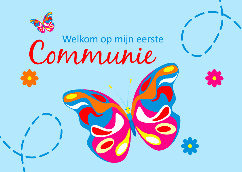 Communiekaarten - Welkom op mijn eerste communie 3