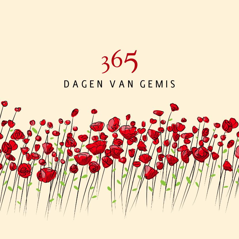 Condoleancekaarten - Condoleance 365 dagen van gemis