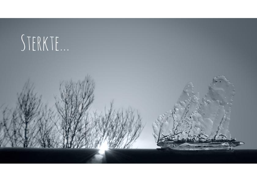 Condoleancekaarten - Condoleance boot - schip van ijs