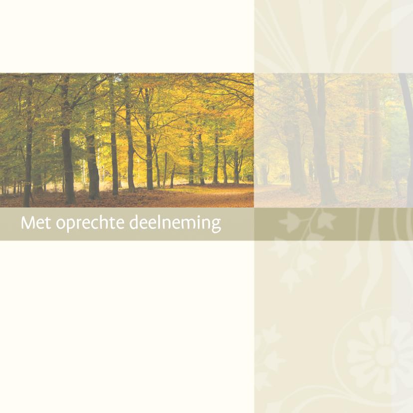 Condoleancekaarten - Condoleance bos