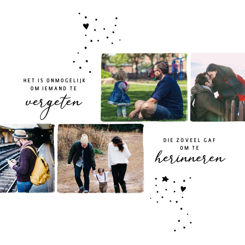 Condoleancekaarten - Condoleance dierbare fotoherinneringen