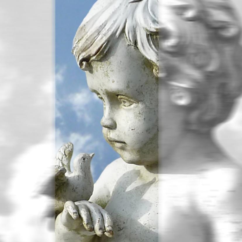 Condoleancekaarten - Condoleance Engelduif