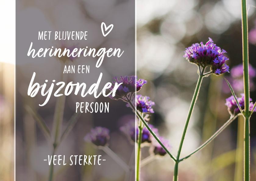 Condoleancekaarten - Condoleance - gedicht hartje bloemen