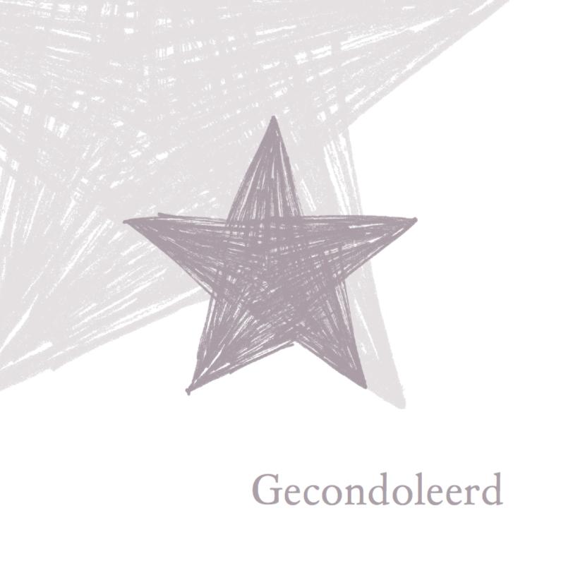 Condoleancekaarten - Condoleance getekende ster