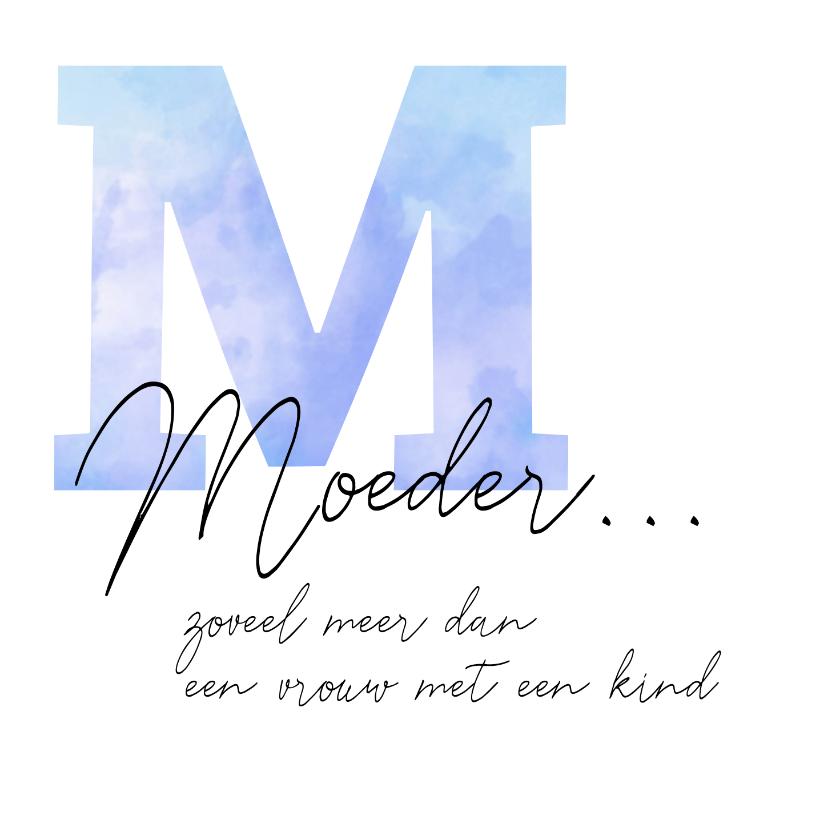 Condoleancekaarten - Condoleance grote waterverf M met gedicht over moeder
