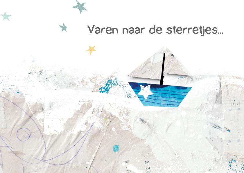 Condoleancekaarten - Condoleance kaart boot sterren