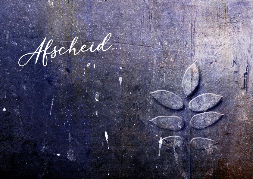 Condoleancekaarten - Condoleance kaart purple leaf