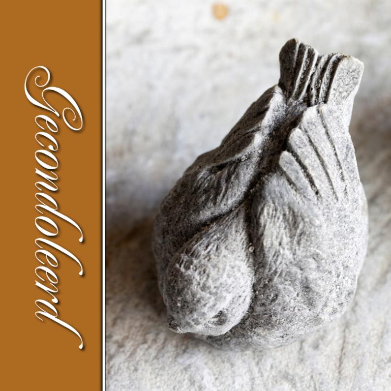 Condoleancekaarten - Condoleance kaart vogel bruin - OT
