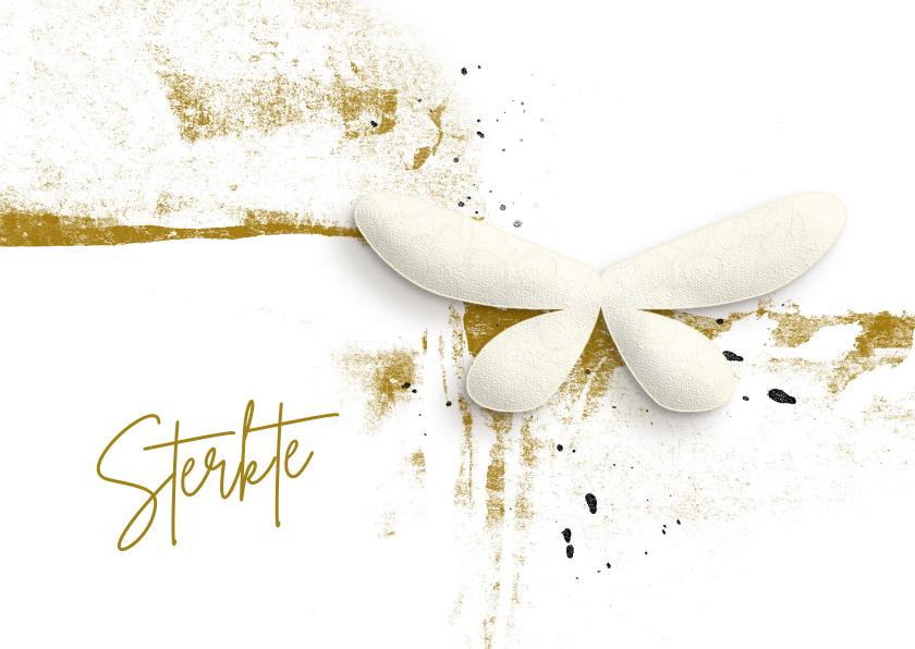 Condoleancekaarten - Condoleance kaart white butterfly