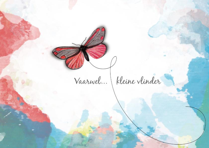 Condoleancekaarten - Condoleance kaart wolken vlinder
