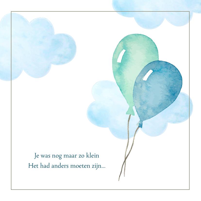 Condoleancekaarten - Condoleance - kindje verloren blauw