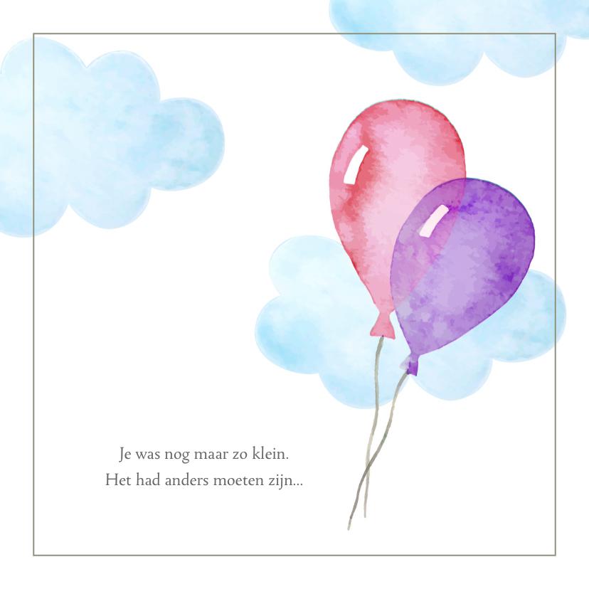 Condoleancekaarten - Condoleance - kindje verloren roze