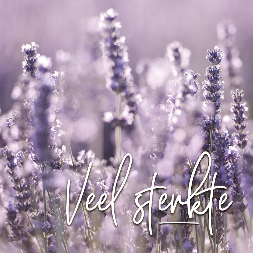 Condoleancekaarten - Condoleance - lavendel veel sterkte