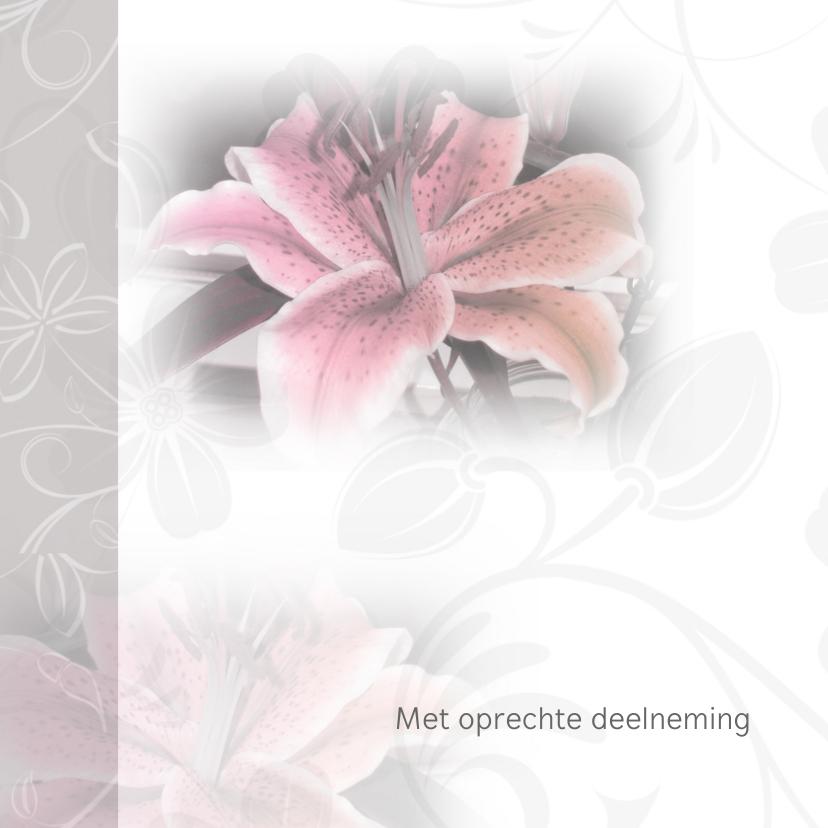 Condoleancekaarten - Condoleance lelies