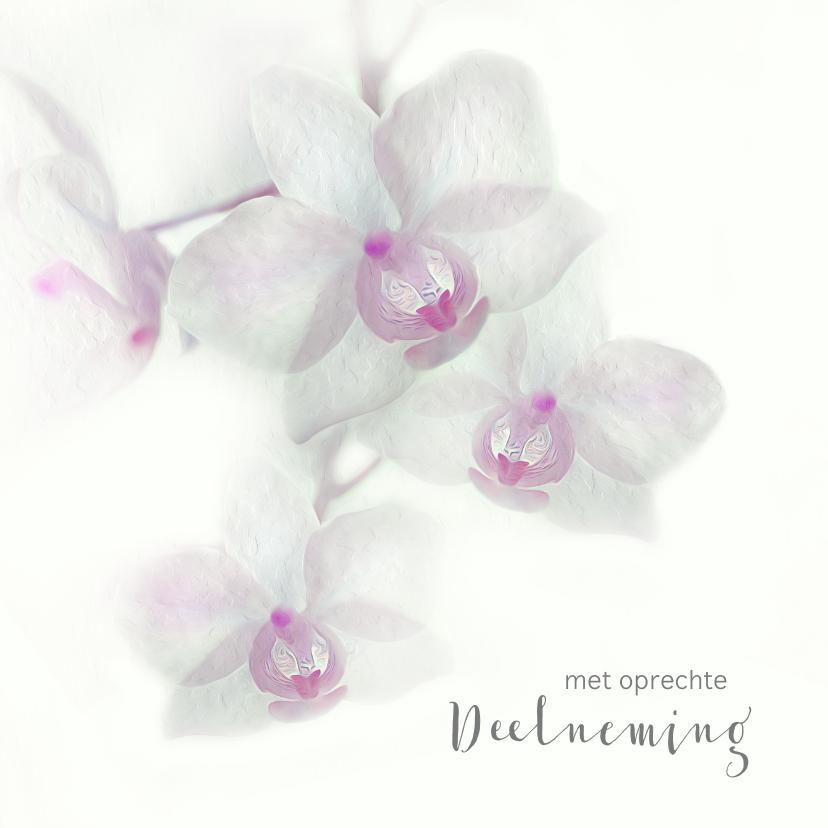 Condoleancekaarten - Condoleance met orchidee-paars-